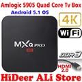2016 Nueva S905 MX Pro Android TV Box Amlogic Quad Core Android 5.1 Kodi 16.0 Completo cargado complementos MXQPRO