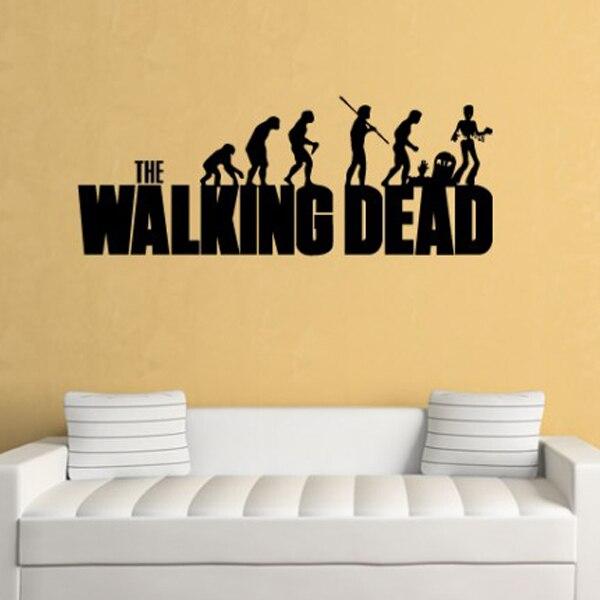The Walking Dead Evolution Wall Sticker The Walking Dead Wall Art Banksy  Vinyl Wall Art Wall Part 39