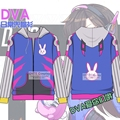 Hot games D.va Cosplay Costumes Sweatshirts Hoodie Dva Clothes Cotton Fancy Party Hoody Halloween Outfits Coat