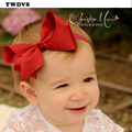 TWDVS Baby Bow Knot Headband Infant Hair Accessories Girls grosgrain ribbon Headwear Toddler hairband W240
