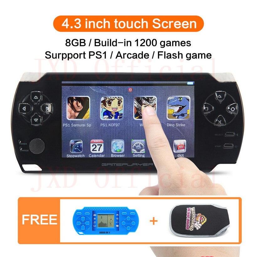 8 GB 4.3 pouce écran tactile De Poche Vidéo Jeu Console construire dans 1200no-repeat jeu pour PS1/Arcad/flash/gba/fc/gbc/smd/sfc MP3/4