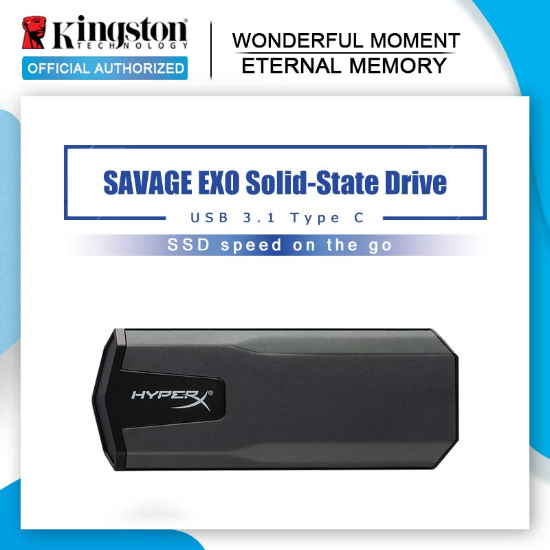 Kingston HyperX Portable Solid State Drive 480gb Hdd 960gb 3D NAND USB 3 1 Gen 2