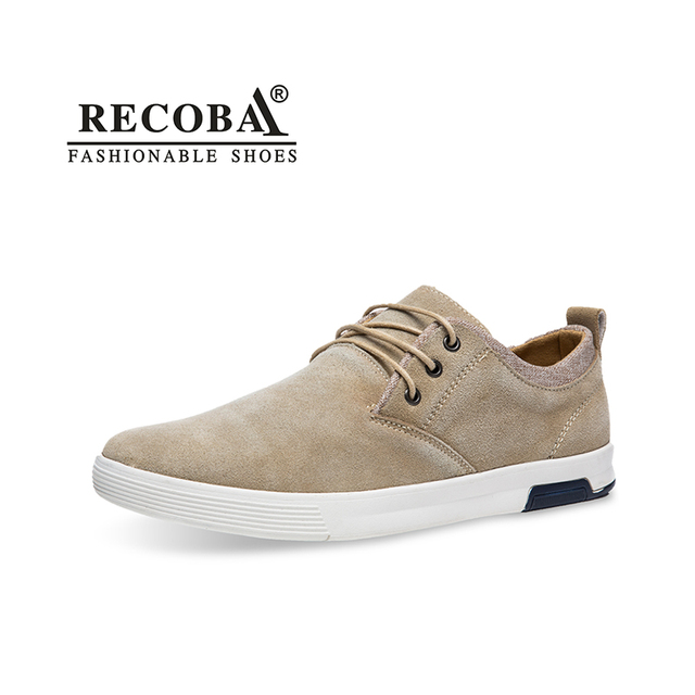 Brand luxury sneaker male lace up beige suede large size 45 slip ons casual men  sneakers