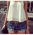 Summer Women Sleeveless Spaghetti Strap Vest Tops Shirts Sexy Chiffon Girl Blouses Vest Tops Causal Solid Color Short Vest