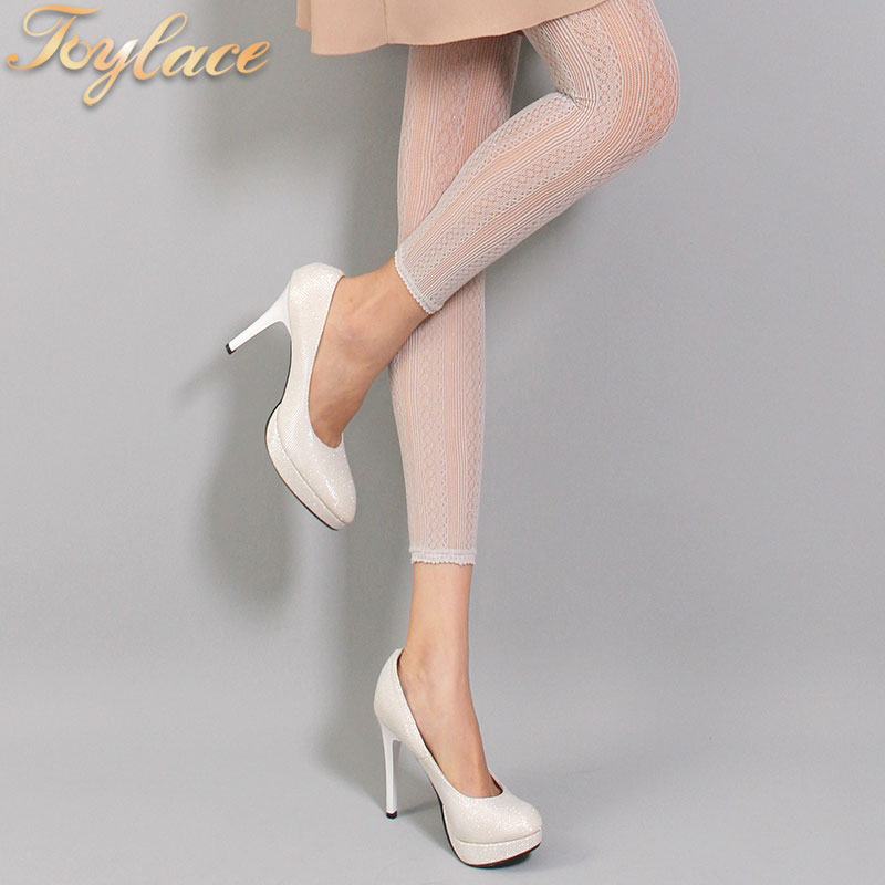 0012 3 Color Toylace shiny spandex sexy fishnet holey footless pantyhose