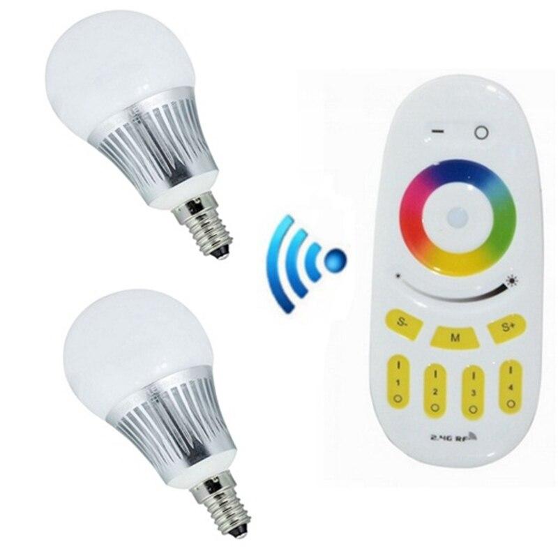 Ac86 265v 2 4g draadloze kleur dimbare e14 led lampen for Kleur led lampen