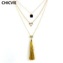 Chicvie Многослойные Популярные ожерелья с кисточками для женщин