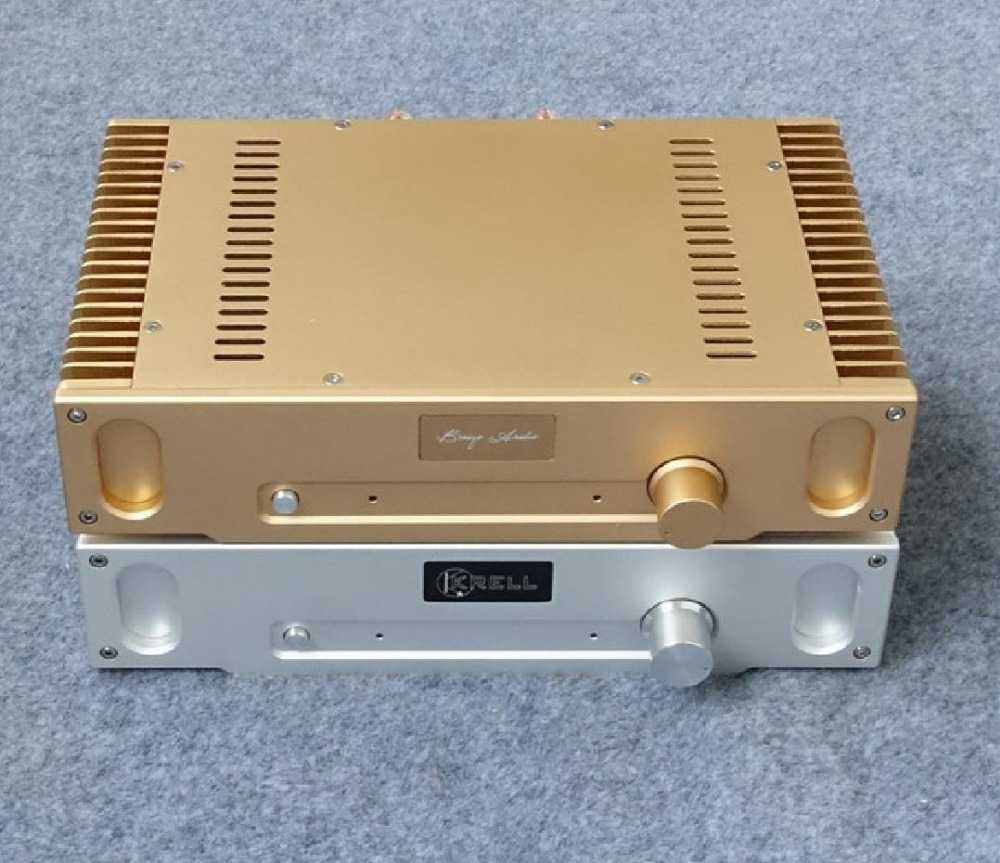 gold Silver 1969 all aluminum amplifier chassis Class A amplifier shell AMP Enclosure case DIY box