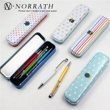 Beautiful Season Flowers Floral Series Dots Stripes Iron Metal Pencil Case For Pen Stationery Storage Box Korea Style Kids Gift