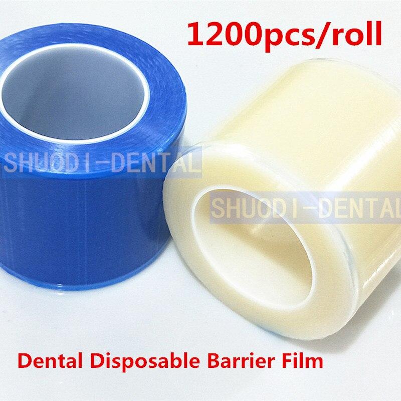1200 pcs/rolo de Película De Proteção Dental Descartável Barreira Protegendo Filme Plástico Membrana de Isolamento de Material Médico Oral 10*14.5