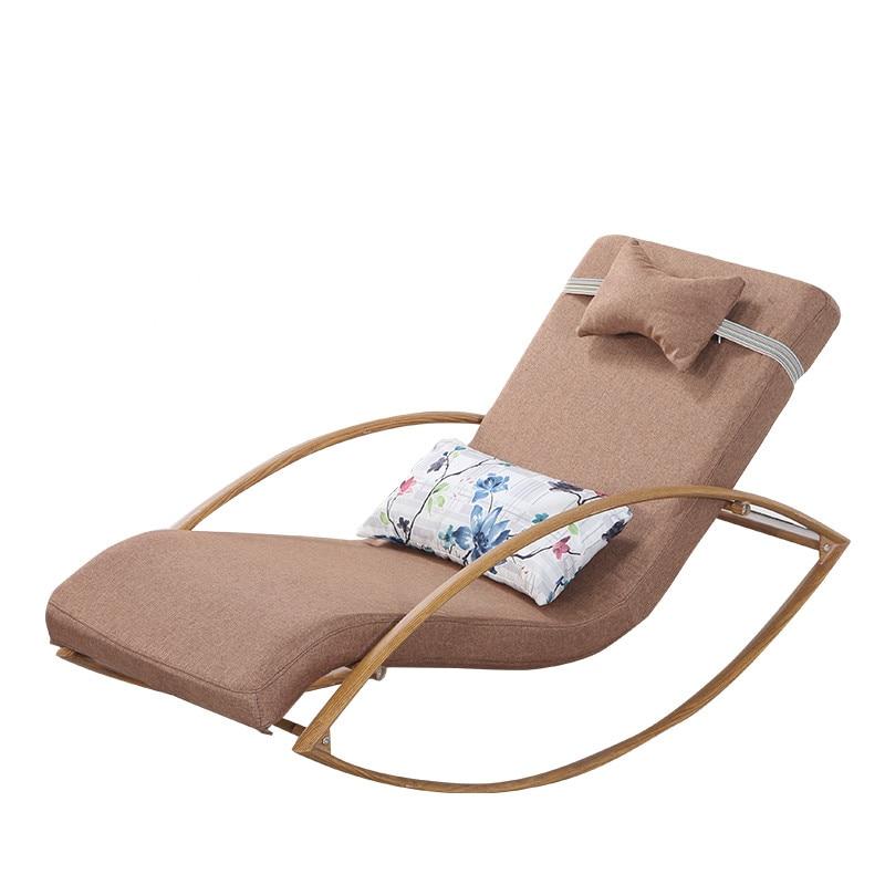 Confortable Detendre En Metal Chaise Bercante Longue Avec Upholsterd Coussin Salon Meubles Rockign Balancoire Dans De Sur
