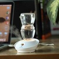 Fashion Mini Bottle Air Humidifier USB Ultrasonic Humidifiers LED Light Aroma Diffuser Office Home Car Mist