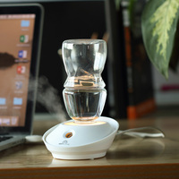 Fashion Mini Bottle Air Humidifier USB Ultrasonic Humidifiers LED Light Aroma Diffuser Office Home Car Mist