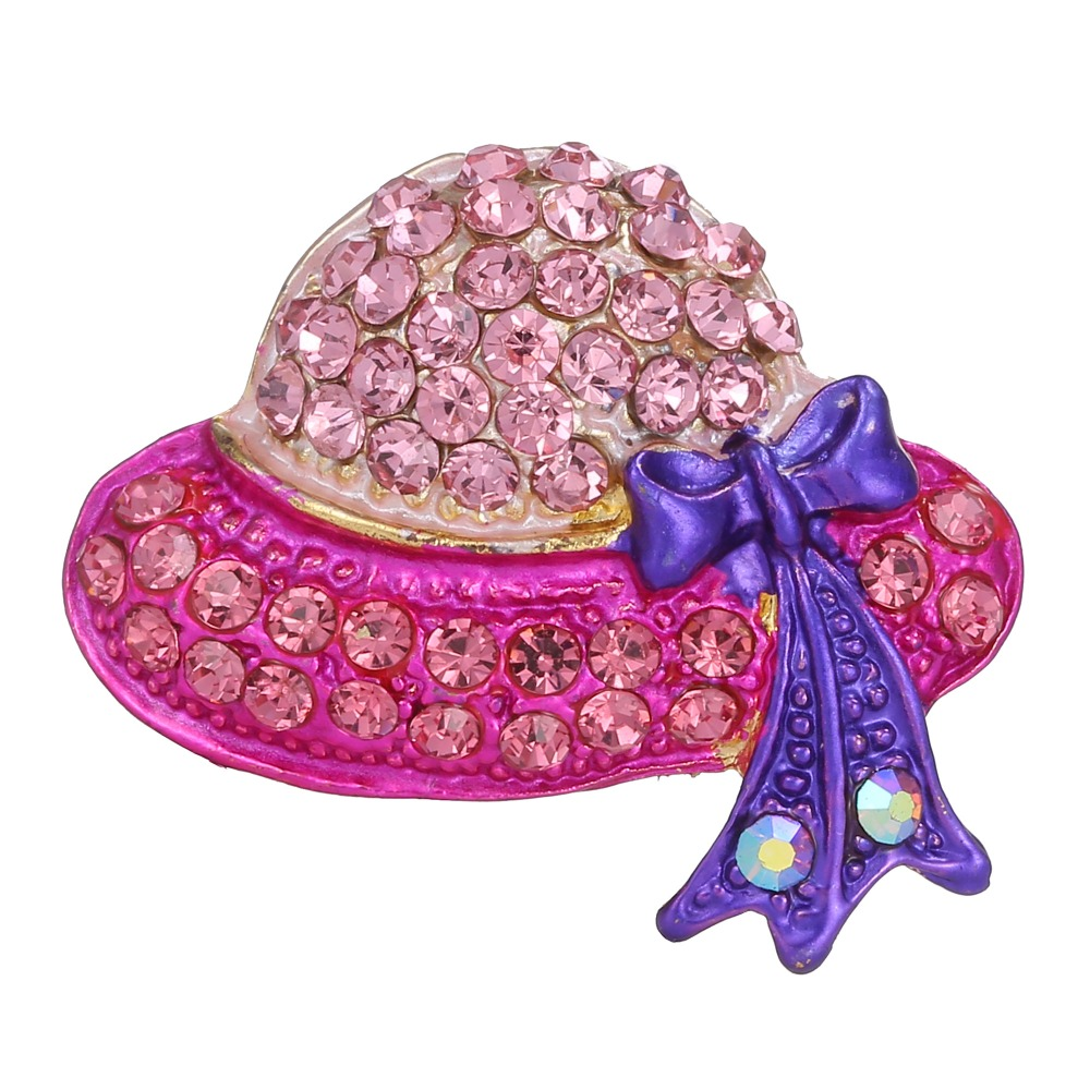 Rinhoo 6 colors Hat Brooch Rhinestone Beautiful Brooch For women wedding jewelry accessories Modern girl gift