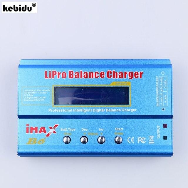 جهاز تفريغ رقمي لبطارية ليثيوم أيون من kebidu طراز iMAX B6 Lipo NiMh Ni Cd RC جهاز تفريغ رقمي لبطارية طراز RC مع شحن وضع إعادة الذروة