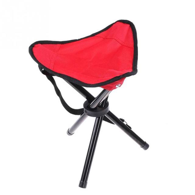 Large Three Legged Stool Folding Chair Beach Fishing Outdoor Park Bench