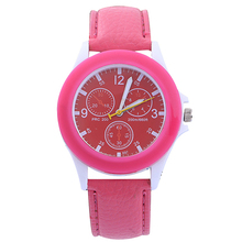 New! Scorching Gross sales New Girls's Colourful Case Fake Leather-based Band Quartz Analog Informal Sport Wrist Watch Scorching 5HPQ
