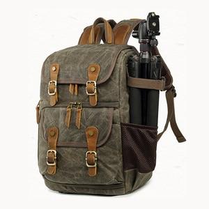 Image 3 - Bolso de la Cámara de la fotografía de la lona de Batik gran resistente al desgaste al aire libre impermeable mochila para Cannon/Nikon/Sony DSLR SLR