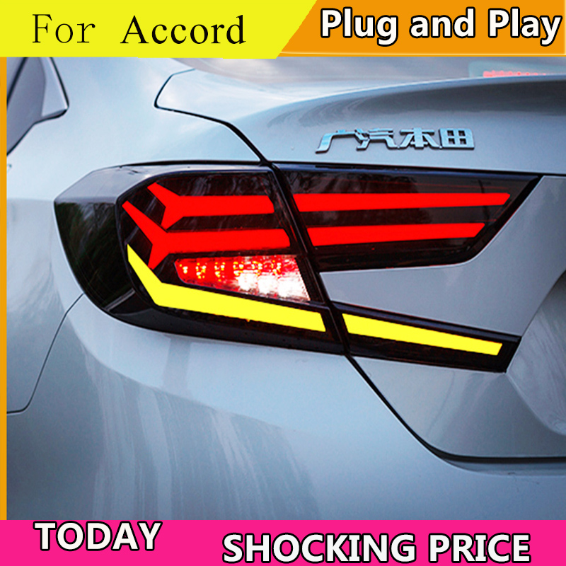 car style for Honda Accord 10th Headlights 2018 2019 taillight LED Rear Lamp DRL Brake Park