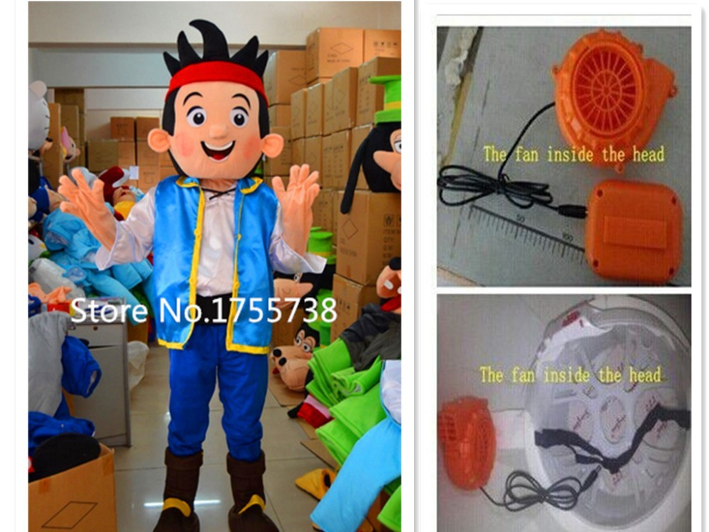 High quality New Jake mascot Neverland narrowly Pirate fancy adult size cartoon mascot costume free shipping