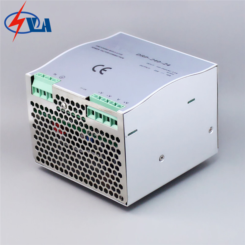 DRP-240  ac to dc Din Rail Cooling Aluminum shell switching power supply converter 240W 24V dr 240 din rail power supply 240w 48v 5a switching power supply ac 110v 220v transformer to dc 48v ac dc converter