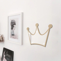 Funlife 5 sets of creative European mirror paste ins Crown acrylic hanging mirror decorative wall mirror stickers custom models