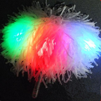 Dance LED Lighting Cheerleading Pompon Hand Ball Pom Poms Flower Glow Party Supplies