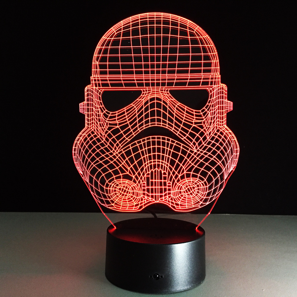 star wars desk accessories with lamp   Troopers Star Wars Night Light 3D LED Desk Table Lamp ...