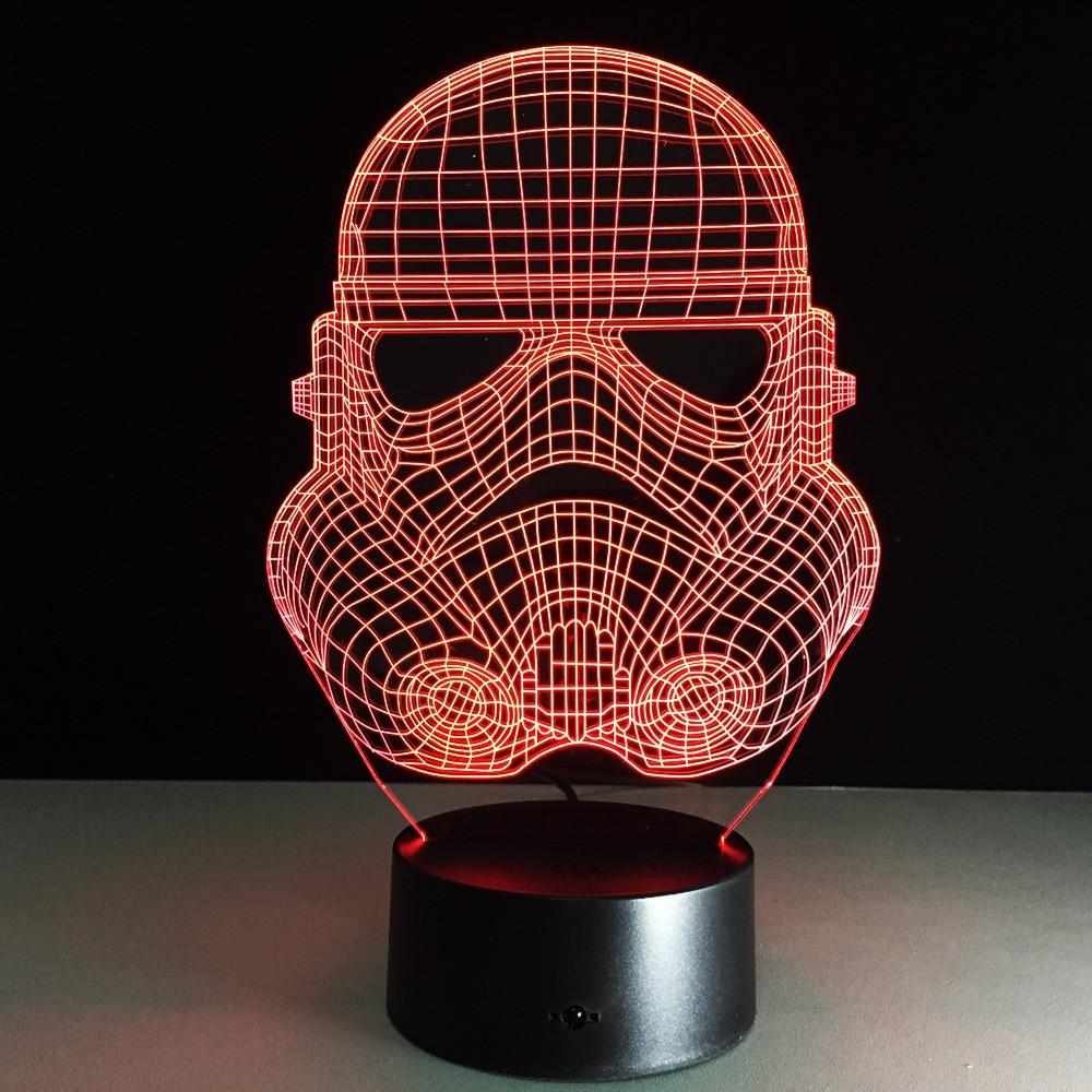 Troopers Star Wars Night Light 3d Led Desk Table Lamp