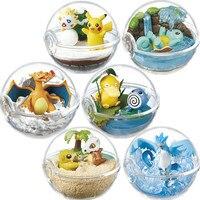 Anime 7CM 6Pcs/Set pokemon Transparent Pikachu Balls Cute Pikachu Charizard Bulbasaur Action Figure Toys for children