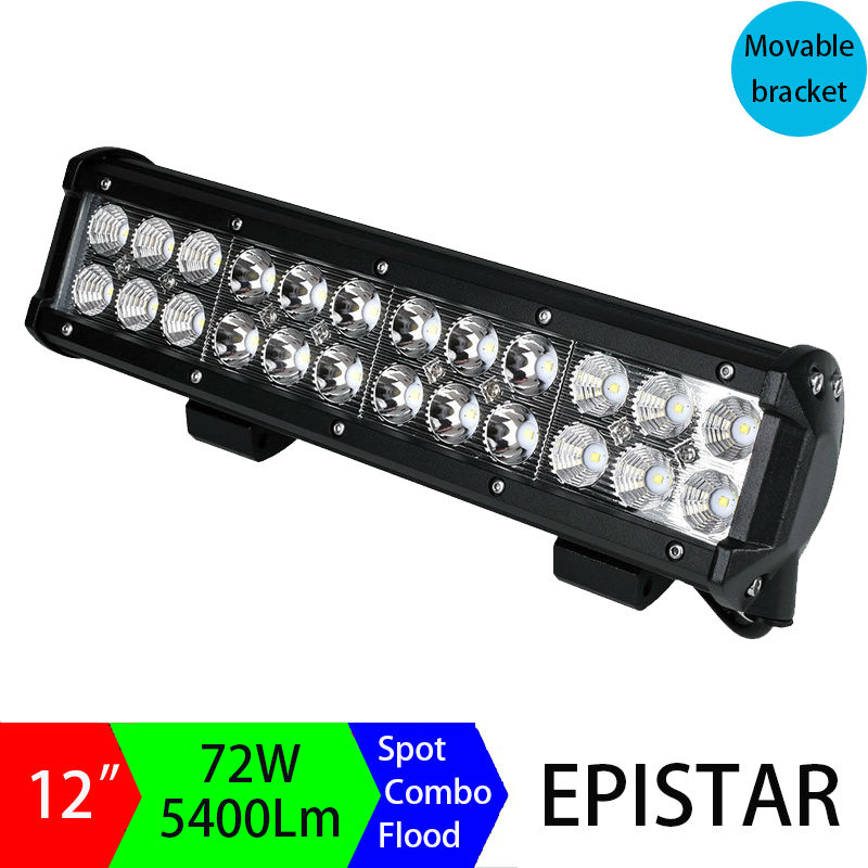 Pair 12inch 72W LED Light Bar Off road Truck SUV 4WD 4X4 Driving Fog Work Light Bar DRL Motorcycle Headlights for SUV ATV Sport 5inch 72w two rows led light bar modified off road lights roof light bar for car vehicles suv