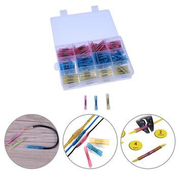 50 piezas/140 piezas/180 piezas soldadura y sellado Heat Shrink tubo conectores empalme de alambre eléctrico aislado soldadura terminales