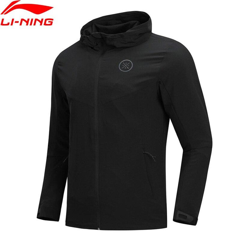 Li Ning Men Wade Series Sports Coat Slim Fit 88 Polyester 12 Spandex LiNing Comfort Sport