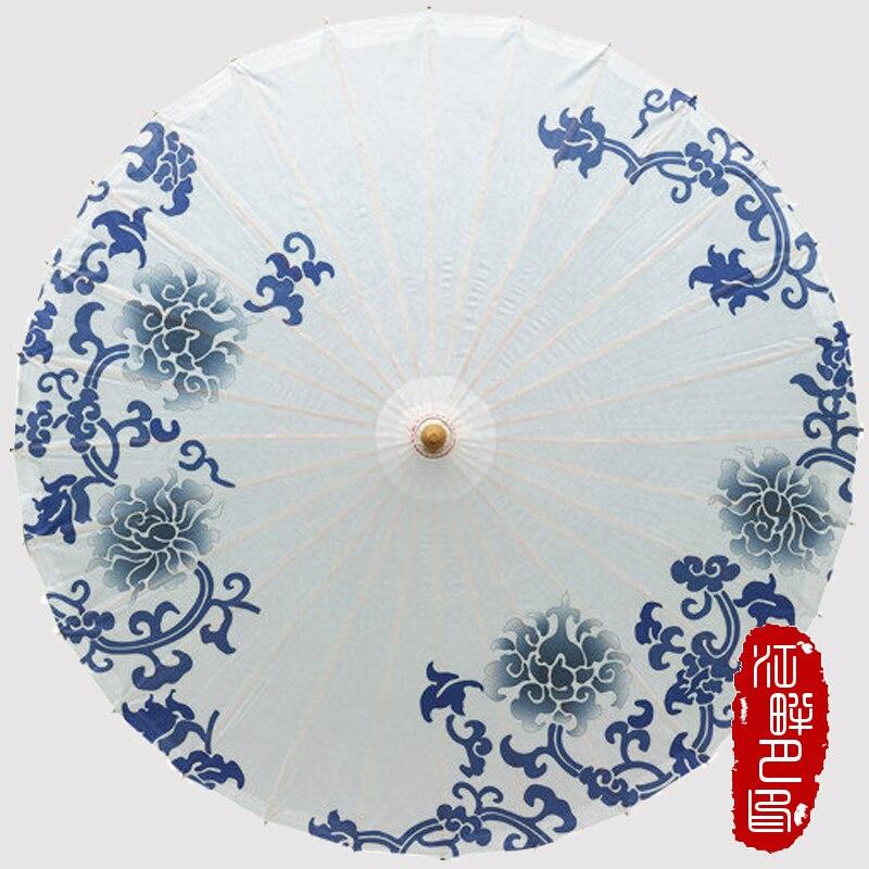 China, Azul y Blanco, Papel De Porcelana, Paraguas, Estilo Japonés, - Bienes para el hogar