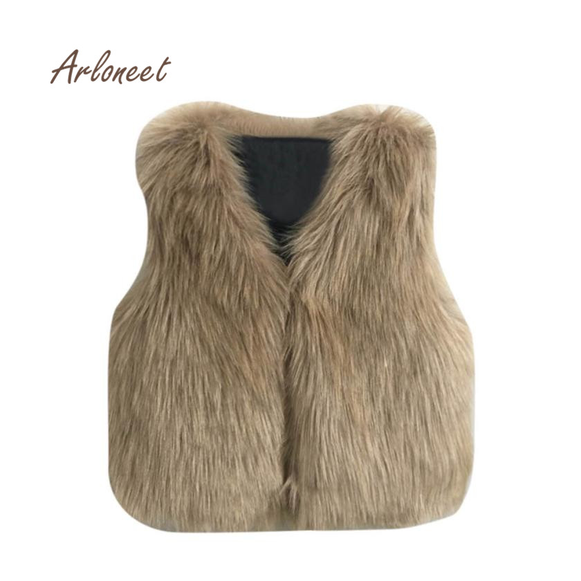 2017 new fashion Toddler Kids baby girl clothes Winter Warm Clothes Faux Fur Waistcoat Thick Coat Outwear drop shipping nov2 цена