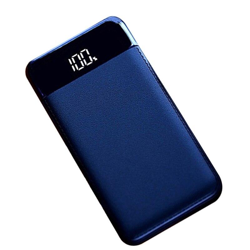 18650, 20000 mAh batería externa del Banco de potencia PoverBank 2 USB LCD Powerbank portátil cargador para teléfono móvil para SAMSUNG S7 S8 XIAO MI