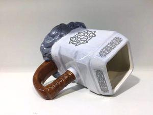 Image 4 - Thor קפה ספלי קרמיקה פטיש בצורת כוסות וספלים גדול קיבולת מארק creative drinkware