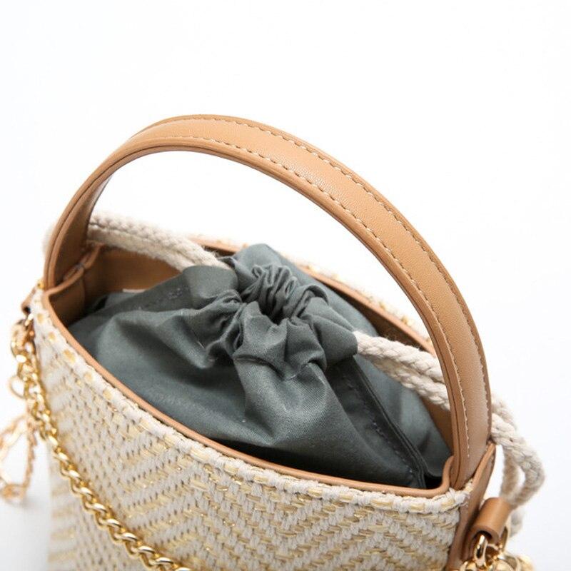 Catena Sacchetto Paglia 2019 Black Per Borsa Le black Rotonda Spalla Bag Secchio Beige Di hit Bag Bag Del Donne Lusso Bali Rattan Bar Progettista Delle Bag Estate Borse Spiaggia Piccola khaki wqZSYEz
