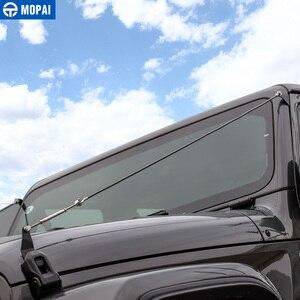 Image 5 - MOPAI araba kaput mandalı kilit engel ortadan kaldırmak halat aksesuarları Jeep Wrangler JL 2018 + için gladyatör JT 2018 +
