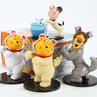 Disney Kawaii Winnie The Pooh Tigger Pije Creative Action Figure Toy Peripherals Model Ornaments Color Boxed Toys Birthday Gift