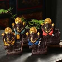 Слон Бог Ганеша благовония горелка фиолетовый песок Индия держатель