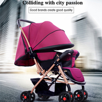 HUAYING Stroller Safety Baby Stroller Can Sit Reclining Cart Eight Wheel Yoya Stroller Health Baby Two Way Stroller