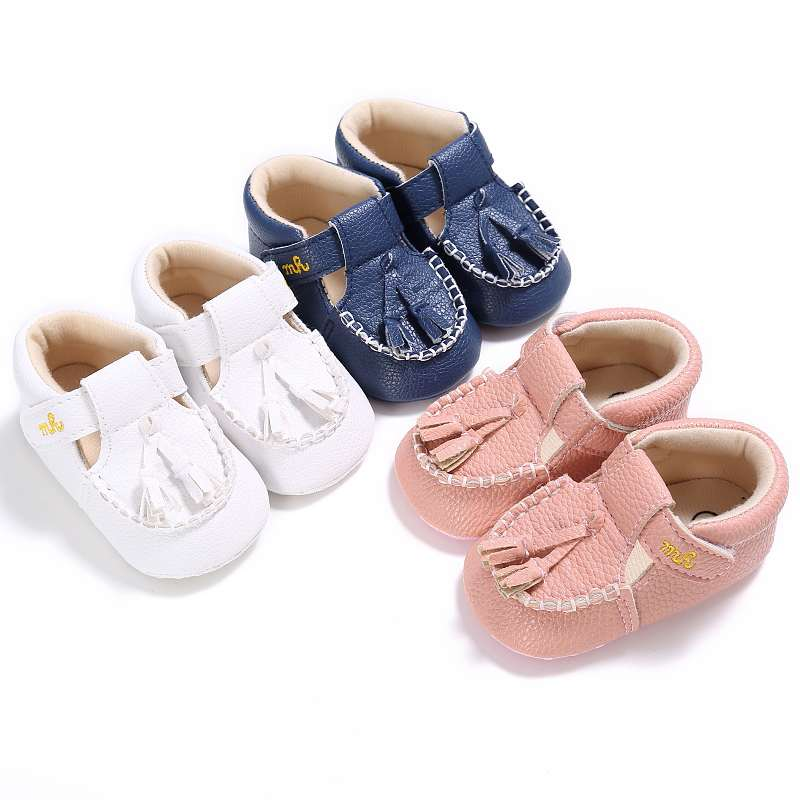 Hot PU Leather Newborn Baby Boy Girl Baby Moccasins Soft Moccs Shoes Bebe Fringe Soft Soled Non-slip Footwear Crib Shoes