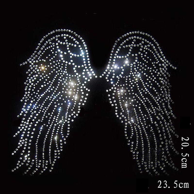 10Pclot Angel Wing Bling Stone Crystal Hotfix Rhinestones -5235
