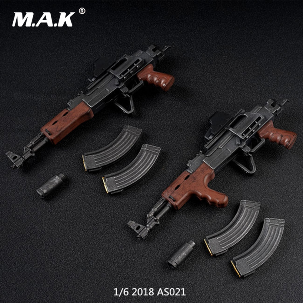 ZYTOYS ZY2007 Plastic Gun Model AK47 Toy 1//6 Weapon Accessories W Fixed Care