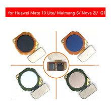 for Huawei Mate 10 Lite Fingerprint Sensor Scanner Touch ID Sensor Return Key Home Button Flex Cable Ribbon Repair parts
