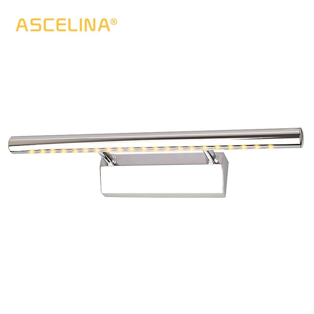 LED Mirror priekšējā luktura vannas istaba Sienas gaismas lukturu spogulis Nerūsējošā tērauda iekštelpu LED 90-260v apgaismojums 3W / 5W / 7W9W / 15W