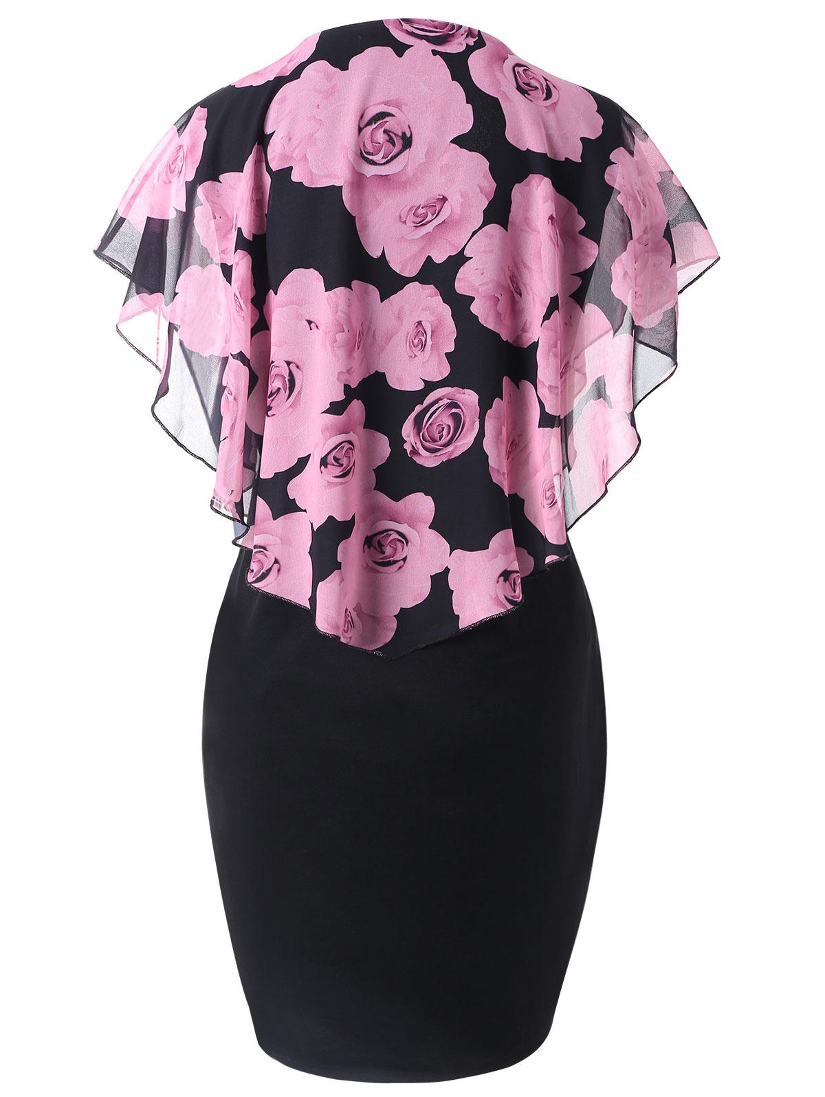 558270af2d1 Neckline  Round Collar Sleeve Length  Short Sleeves Pattern Type  Floral  With Belt  No Season  Spring