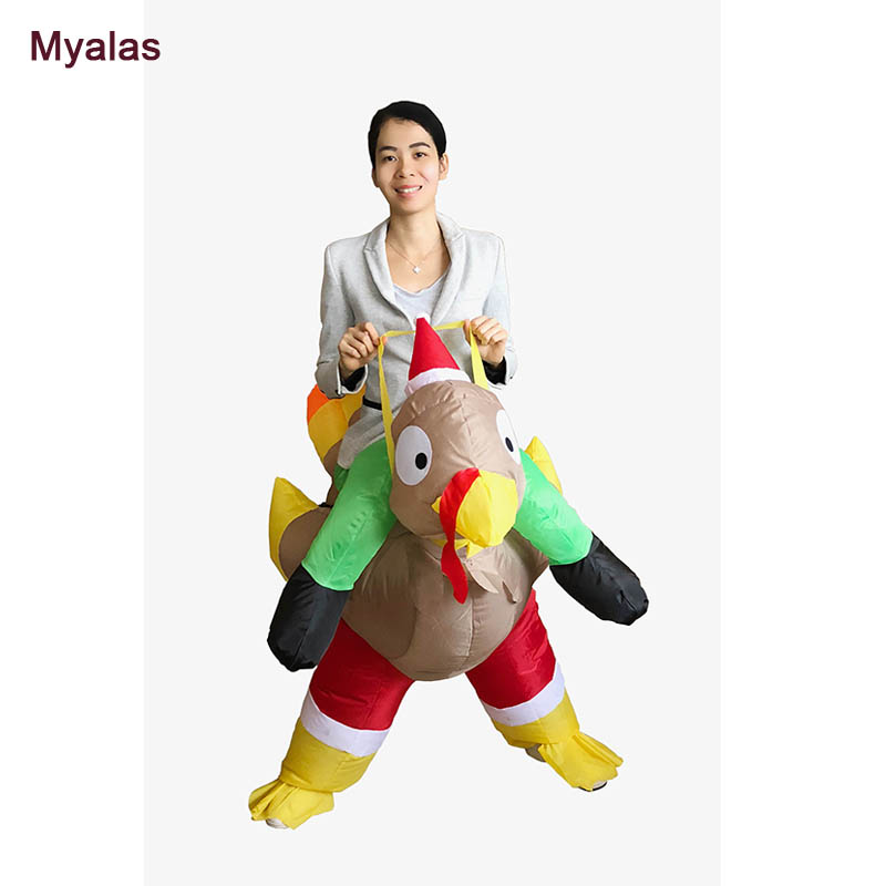 New Inflatable Turkey Costume For Christmas Gift Rooster Halloween Costume For Adult Christmas Costumes Cartoon Chicken Costume