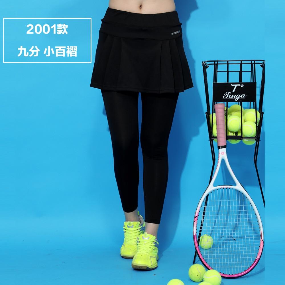 Ropa de tenis de mesa falda de tenis de talla grande ropa de bádminton falda de yoga Pantalones deportivos Fitness de secado rápido pantalón hasta el tobillo